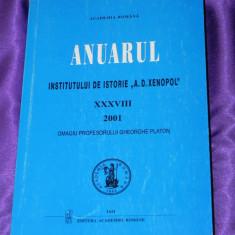 Anuarul Institutului de Istorie A D Xenopol Iasi 2001 (f0192