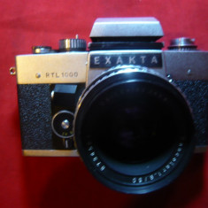 Aparat Foto cu film Exakta RTL 1000, Obiectiv Carlzeiss Jena Pancolar 1, 8/50mm - Aparate Foto cu Film