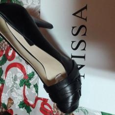 Pantofi damă negri - Pantof dama Nissa, Culoare: Negru, Marime: 39