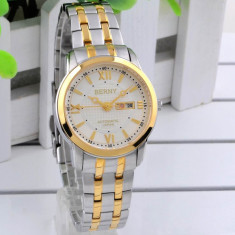 Ceas Automatic-Placat Aur, cristale - mec. JAPONEZ automatic MIYOTA, Japan - Ceas dama, Lux - elegant, Mecanic-Automatic, Placat cu aur, Ziua si data