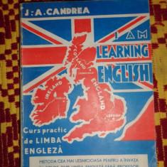 Candrea - I am learning english curs de limba engleza 353pagini - Curs Limba Engleza