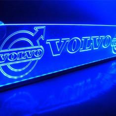 Emblema Volvo pentru cabina interior prindere parbriz led 5 w 12/24v Albastra (Dimensiune mare) - Tuning camioane
