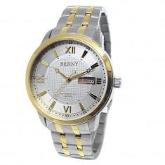Ceas Automatic-Placat Aur, cristale - mec. JAPONEZ automatic MIYOTA 21 Jewels - Ceas barbatesc, Lux - elegant, Mecanic-Automatic, Placat cu aur, Ziua si data