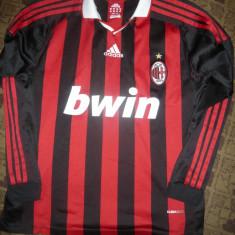Tricou al Echipei Fotbal AC Milan, marca Adidas, masura M - Tricou echipa fotbal, Marime: M, Culoare: Rosu