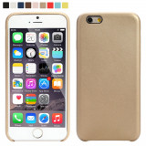 Husa iPhone 7 Plus Gold, iPhone 7/8 Plus, Auriu, Piele Ecologica