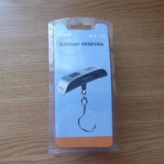 Cantar digital portabil cu carlig inox pentru bagaje - Dieta