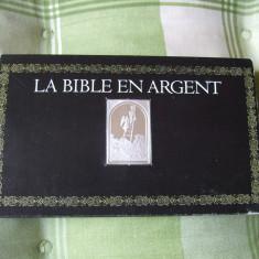 JN. Biblia in argint, 26 grame, piesa nr. 2 argint, tip lingou, Europa, An: 1960