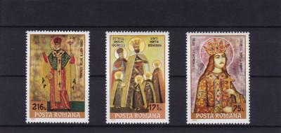 ROMANIA 1993    LP 1321   ICOANE    SFINTI  93  SERIE  MNH foto