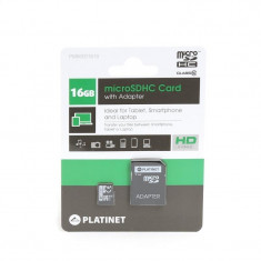 PLATINET microSDHC SECURE DIGITAL + ADAPTER SD 16GB class10 - Card Micro SD