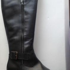 Vand cizme din piele, noi, de dama - Cizma dama Benvenuti, Culoare: Negru, Marime: 40