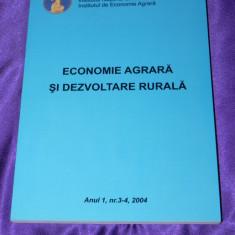 Revista Economie agrara si dezvoltare rurala - anul 1, nr 3-4 2004 (f0093