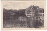 #1971- Romania, Bad Salzburg, Ocna Sibiu, c.p. circ. 1918:  Strandul, animat, Ocna Sibiului, Circulata, Fotografie