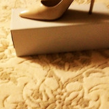 Pantofi piele - Pantof dama, Culoare: Crem, Marime: 38