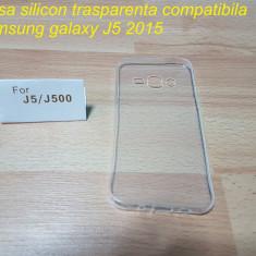 Husa silicon trasparenta compatibila samsung galaxy J5 2015 - Husa Telefon Samsung, Transparent