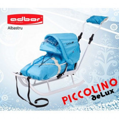 Saniuta pentru copii Piccolino Deluxe Albastru Adbor