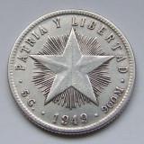 20 Centavos 1949 - Cuba - PATRIA Y LIBERTAD - Argint - (1)