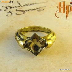 Inel Vintage Film Harry Potter - Horcruxes Resurrection Stone Deathly, Marime: 44