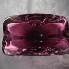 STICLA DE MURANO - SCRUMIERA CRISTAL COLORAT 16 CM - Scrumiera sticla