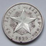 20 Centavos 1920 - Cuba - PATRIA Y LIBERTAD - Argint - (1)