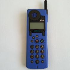 Telefon anii '90 Siemens S6 D Power colectie vechi rar vintage antic retro - Telefon mobil Siemens, Albastru, Nu se aplica, Fara procesor