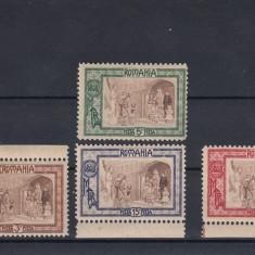 ROMANIA 1907, LP 65, OBOLUL EMISIUNE DE BINEFACERE SERIE MNH - Timbre Romania, Nestampilat