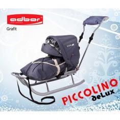 Saniuta pentru copii Piccolino Deluxe Graphit Adbor