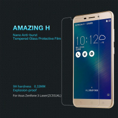 Geam Asus Zenfone 3 Laser ZC551KL Tempered Glass H by Nillkin - Folie de protectie Asus, Lucioasa