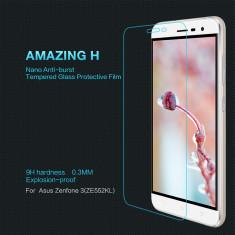 Geam Asus Zenfone 3 ZE552KL Tempered Glass H by Nillkin - Folie de protectie Asus, Lucioasa