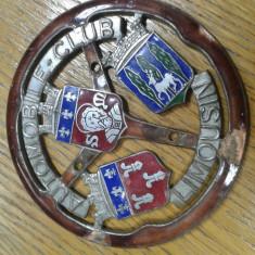 Veche emblema emailata Franta anii '30 (dimetru aprox.cu ACR) detalii original - Embleme auto, Universal