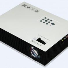 VideoProiector TV Lampa cu LED, HDMI UC80 1500 Lumen LCD MHL VGA USB SD TV