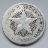 20 Centavos 1920 - Cuba - PATRIA Y LIBERTAD - Argint - (2)