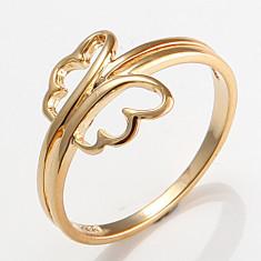 Inel 9K GOLD FILLED cu fluture. Marimea 7 - Inel placate cu aur