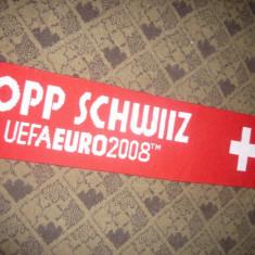 Fular al Suporterilor Echipei de Fotbal a Nationalei Elvetiei Camp.European 2008 - Fular fotbal