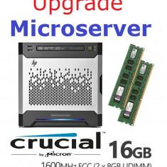 Kit 2 x 8GB DDR3-ECC UDIMM pentru Microserver - upgrade la 16GB - Memorie server Alta, 1600 mhz