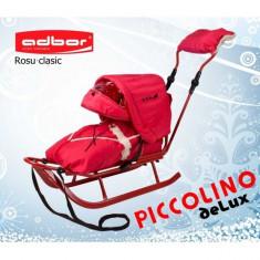 Saniuta pentru copii Piccolino Deluxe Rosu Adbor