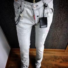 Blugi/jeans Dsquared D2 slim fit colectie NOUA IANUARIE 2017 ORIGINALI !!! - Blugi barbati, Marime: 33, Culoare: Din imagine, Lungi, Cu aplicatii