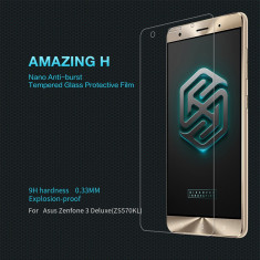 Geam Asus Zenfone 3 Deluxe ZS570KL Tempered Glass H by Nillkin - Folie de protectie Asus, Lucioasa