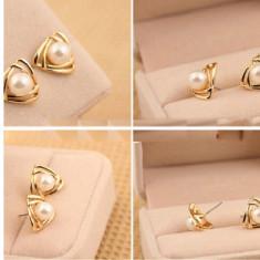Cercei finuti cu perla - Cercei perla
