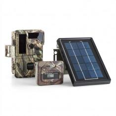 DuraMaxx Solar Grizzly capcana pentru camera foto set 84 LED-uri negru HD 8MP USB SD camuflaj 950nm IR incl. Panou solar & Controler de putere