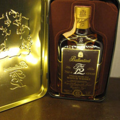 Whisky ballantines, 12 ani, scotch whisky cl.75 gr.43 ani 70 -cadou de Crăciun
