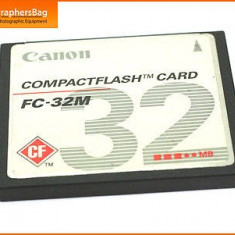 Compact flash 32mb canon Compact Flash Card 32MB - Card memorie foto
