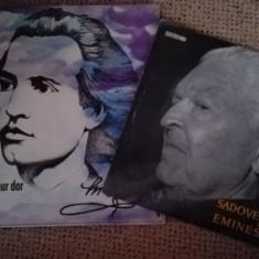 Mihai Eminescusi 2 discuri noi cu 21 romante si un disc Sadoveanu - Eminescu - Muzica Folk electrecord, VINIL