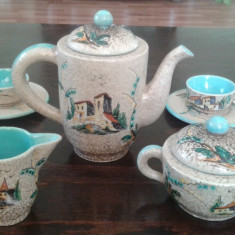 Mazzotti Giuseppe Albisola Serviciu ceai/cafea ceramica Italia 1930
