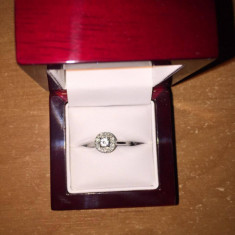 Inel de logodnă Valmand din aur alb cu diamant rotund - Inel aur alb