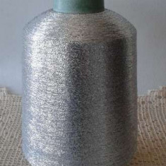Fir brodat tricotat crosetat lurex argintiu - Fire