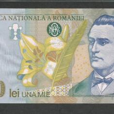 ROMANIA 1000 1.000 LEI 1998 UNC [1] Filigran Mare, necirculata - Bancnota romaneasca