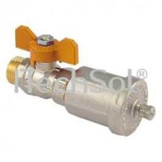 "Kit supapa automata de aerisire cu robinet 1/2"" pentru instalatii solare - Kit turbo auto"