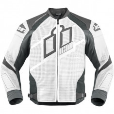 MXE Geaca moto piele Icon Hypersport Prime, alb Cod Produs: 28102593PE - Imbracaminte moto