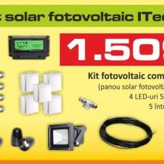 Kit (sistem) solar fotovoltaic ITechSol® 150W pentru iluminat 12V (fara acumulator) - Panou solar