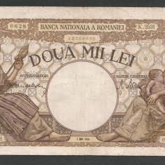 ROMANIA 2000 2.000 LEI 2 mai 1944 [2] filigram BNR in scut - Bancnota romaneasca